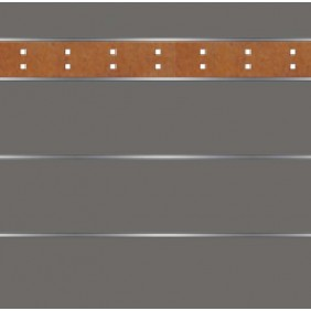 elevato Zaunserie Baveno Typ 3.4 Anthrazit/Corten-Stahl