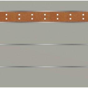 elevato Zaunserie Baveno Typ 3.2 Steingrau/Corten-Stahl