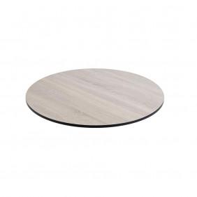 Diamond Garden DiGa Compact Tischplatte 68cm rund Eiche sägerau mit 20° Fase