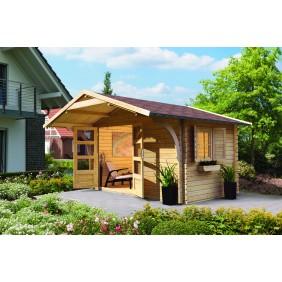 Karibu Eco Blockbohlenhaus Gartenhaus Berne 5/6 - 28 mm