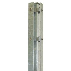 Kraus DS Eckpfosten S 60x40 mm mit Abdeckschiene-zum Einbetonieren Feuerverzinkt