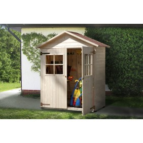 weka 14 mm Garten- und Terrassenschrank - Satteldach und Doppeltür