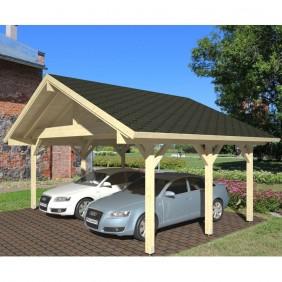 Palmako Carport Robert 20,6 m² - outdoor - Beispiel - naturbelassen