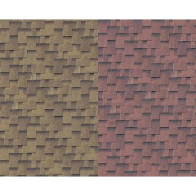 Karibu Asymetrische Dachschindeln rot geflammt, zedernholz