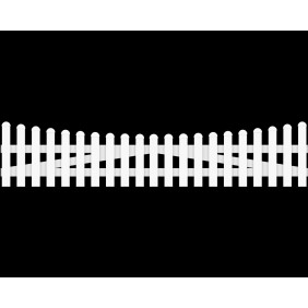 GroJa BasicLine Gartenzauntor Kunststoff 2-flügelig Bogen unten schematische Darstellung