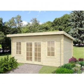 Palmako Gartenhaus Lisa 14,2 m² - 44 mm - naturbelassen