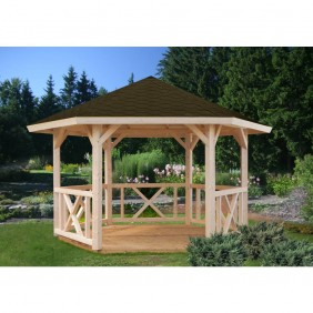Palmako Pavillon Betty 9,9 m² - naturbelassen - outdoor
