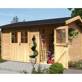 Karibu Woodfeeling Gartenhaus Mittelwandhaus Wetrup 2