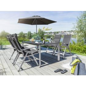 Kettler EASY Dining Gartenmöbel Set inkl. 4 Stühle, 2 Hocker, 1 Tisch