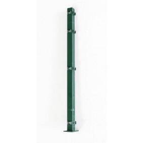 MOE Eckpfosten Grün mit Gegenplatte für Doppelstabmatten