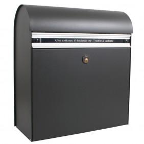 ALLUX KS200 Briefkasten - Anthrazit, Briefeinwurf Aluminium