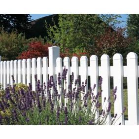 GroJa BasicLine Gartenzaun Kunststoff gerader Verlauf