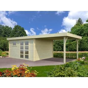 Palmako Gartenhaus Elsa 11,3+8,1 m² - 28 mm - naturbelassen