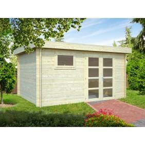 Palmako Gartenhaus Elsa 11,3 m² - 28 mm - naturblelassen