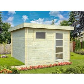 Palmako Gartenhaus Elsa 8,7 m² - 28 mm - naturblelassen