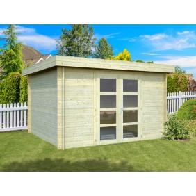 Palmako Gartenhaus Elsa 9,6 m² - 28 mm - naturblelassen