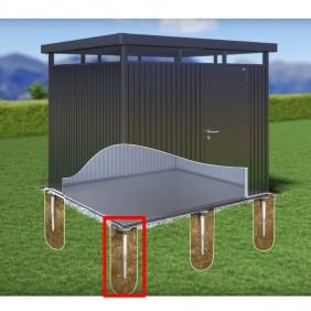 Biohort Erdschraubenpaket für Befestigung von Seitendächern