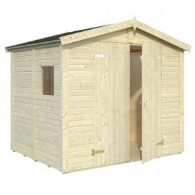Palmako Gerätehaus Dan 4,6 m² - 16 mm - naturbelassen 2