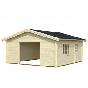 Palmako Garage Roger 27,7 m² - 70 mm - ohne Tor - naturbelassen