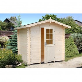 Palmako Gartenhaus Vivian 3,8 m² - 28 mm - naturbelassen