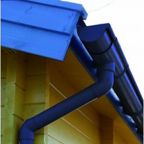 Kunststoff Dachrinnenset für Skan Holz Carport Sauerland anthrazit