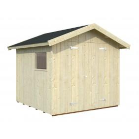 Palmako Gerätehaus Nils 5,4 m² - 16 mm - naturbelassen