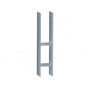 Skan Holz H-Anker für 12er Pfosten
