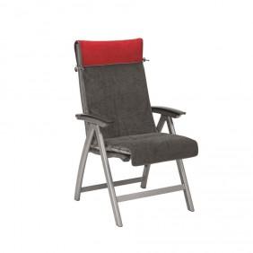 Kettler HKS Auflagenschonbezug Sessel rot/anthrazit