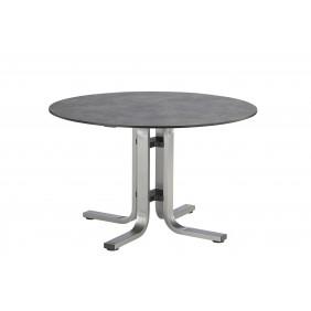 Kettler FLOAT Dining-Tisch Ø120 cm, Aluminium silber/anthrazit HPL-Betondekor anthrazit