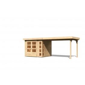 Karibu Gartenhaus Kerko 497 x 209 cm naturbelassen - 19 mm