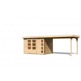 Karibu Gartenhaus Kerko 557 x 209 cm naturbelassen - 19 mm