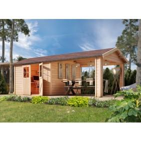Karibu Eco Gartenhaus Gerätehaus Friedeborg 28 mm