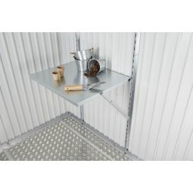 Klapptisch für Biohort Gerätehaus und Geräteschrank Metallgerätehaus