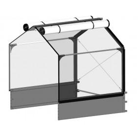 itavia GrowCamp Hochbeet Grundmodul 30 mit Überdachung - B120 x T120 x H130cm