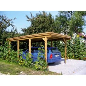 Skan Holz Holstein - Flachdach Einzelcarport 115er - Breite 373 cm Nadelholz
