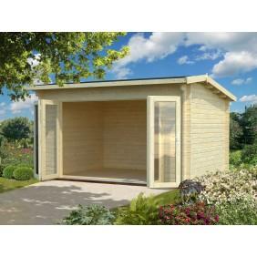 Palmako Gartenhaus Ines 11,1 m² - 44 mm - naturbelassen