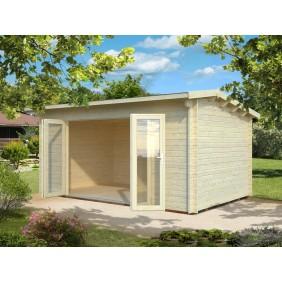 Palmako Gartenhaus Ines 13,7 m² - 44 mm - naturbelassen