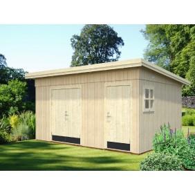 Palmako Gerätehaus Kalle 13,5 m² - 18+70 mm - naturbelassen