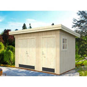 Palmako Gerätehaus Kalle 6,6 m² - 18+70 mm - naturbelassen