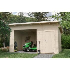 Skan Holz Gerätehaus Knut mit offenem Arbeitsbereich - 28 mm