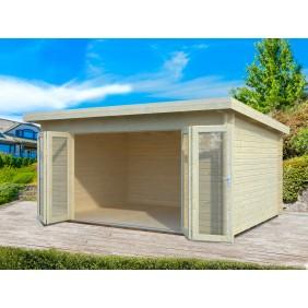 Palmako Gartenhaus Lea 14,2 m² - 44 mm - naturbelassen