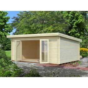 Palmako Gartenhaus Lea 19,4 m² - 44 mm - naturbelassen