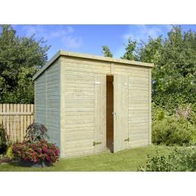 Palmako Gerätehaus Leif 4,2 m² - 16 mm, naturbelassen