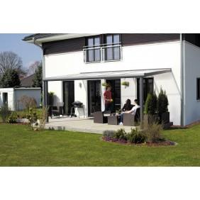 Skan Holz Aluminium Terrassenüberdachung Genua Breite 434 cm anthrazit