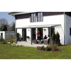Skan Holz Aluminium Terrassenüberdachung Monza Breite 434 cm anthrazit