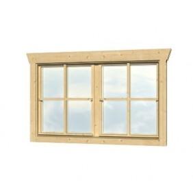 Skan Holz Doppelfenster für 28 mm Blockbohlenhäuser