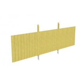 Skan Holz Rückwand für Carports für Durchfahrt bis 550 cm Breite - Deckelschalung