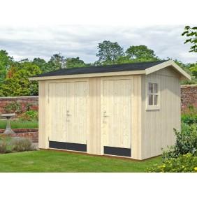 Palmako Gerätehaus Olaf 6,6 m² - 18+70 mm - naturbelassen