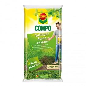 COMPO Nachsaat-Rasen grün und dicht 2,5 kg für 125 m²