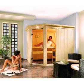 Karibu Sauna Fiona 3 mit Eckeinstieg 68 mm